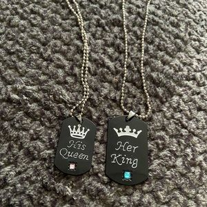 Brand new His Queen / Her King necklaces
